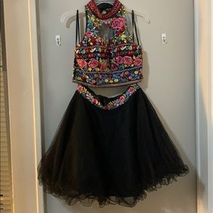 2 piece homecoming or prom dress.